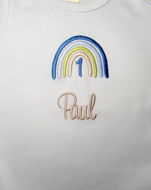 Geburtstagsregenbogen Shirt Junge Bild 3