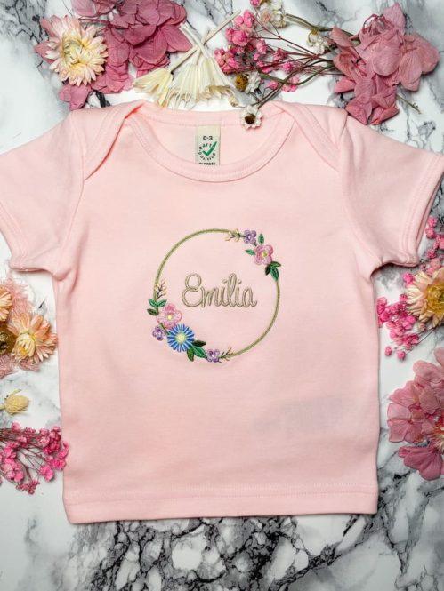 Namenskranz Shirt Mädchen
